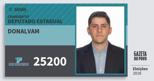 Santinho Donalvam 25200 (DEM) Deputado Estadual | Goiás | Eleições 2018