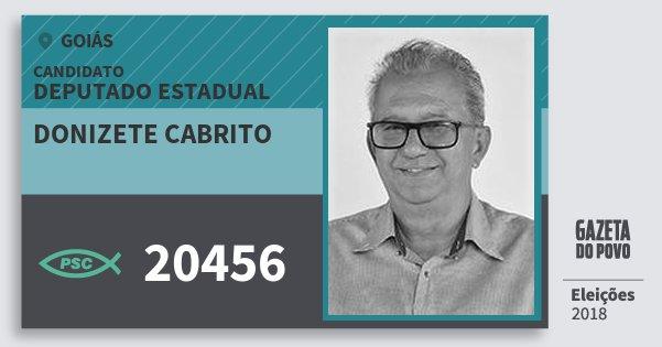 Santinho Donizete Cabrito 20456 (PSC) Deputado Estadual | Goiás | Eleições 2018
