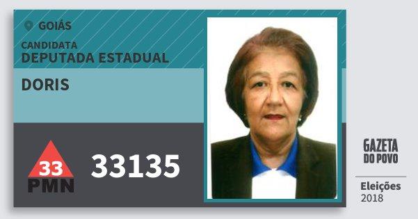 Santinho Doris 33135 (PMN) Deputada Estadual | Goiás | Eleições 2018