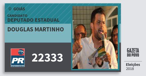 Santinho Douglas Martinho 22333 (PR) Deputado Estadual | Goiás | Eleições 2018
