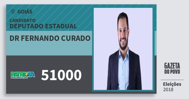 Santinho Dr Fernando Curado 51000 (PATRI) Deputado Estadual | Goiás | Eleições 2018