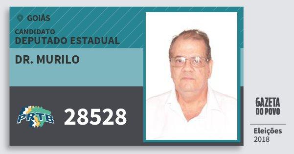Santinho Dr. Murilo 28528 (PRTB) Deputado Estadual | Goiás | Eleições 2018