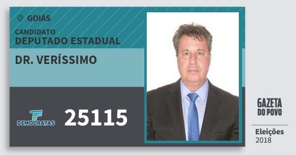 Santinho Dr. Veríssimo 25115 (DEM) Deputado Estadual | Goiás | Eleições 2018