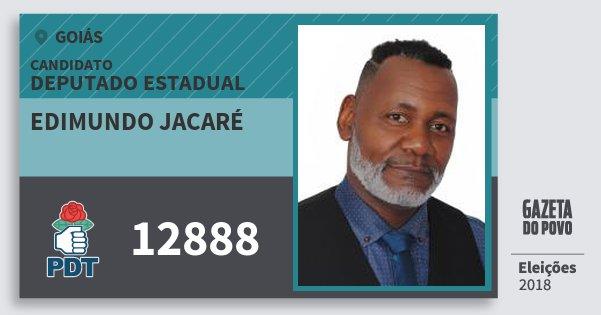 Santinho Edimundo Jacaré 12888 (PDT) Deputado Estadual | Goiás | Eleições 2018