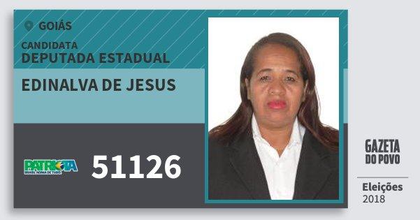 Santinho Edinalva de Jesus 51126 (PATRI) Deputada Estadual | Goiás | Eleições 2018