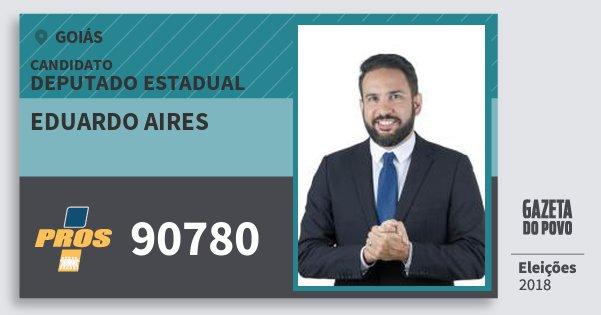 Santinho Eduardo Aires 90780 (PROS) Deputado Estadual | Goiás | Eleições 2018