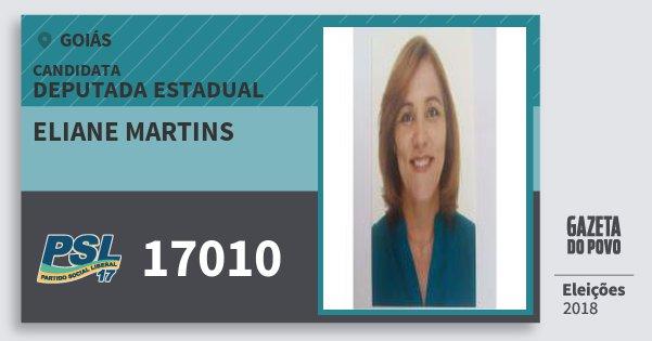 Santinho Eliane Martins 17010 (PSL) Deputada Estadual | Goiás | Eleições 2018