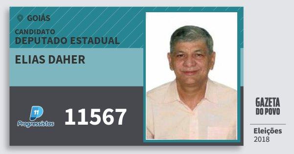 Santinho Elias Daher 11567 (PP) Deputado Estadual | Goiás | Eleições 2018