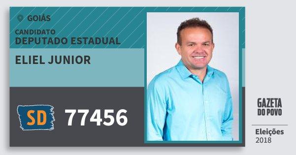 Santinho Eliel Junior 77456 (SOLIDARIEDADE) Deputado Estadual | Goiás | Eleições 2018