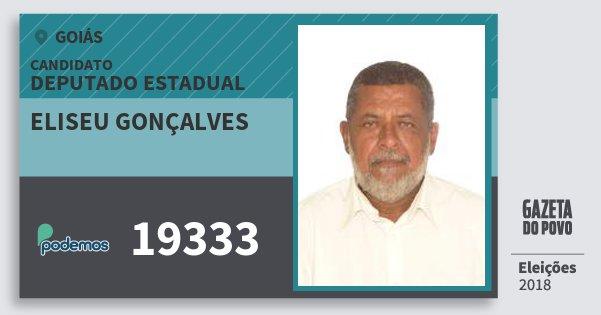 Santinho Eliseu Gonçalves 19333 (PODE) Deputado Estadual | Goiás | Eleições 2018