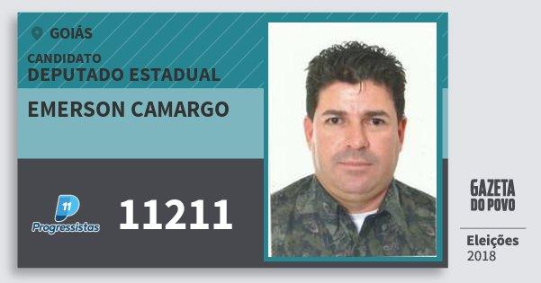 Santinho Emerson Camargo 11211 (PP) Deputado Estadual | Goiás | Eleições 2018