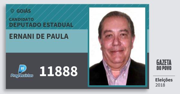 Santinho Ernani de Paula 11888 (PP) Deputado Estadual | Goiás | Eleições 2018