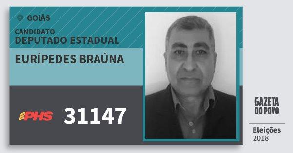 Santinho Eurípedes Braúna 31147 (PHS) Deputado Estadual | Goiás | Eleições 2018