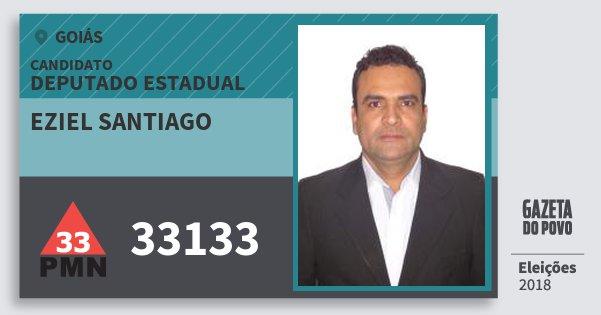 Santinho Eziel Santiago 33133 (PMN) Deputado Estadual | Goiás | Eleições 2018