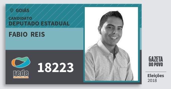 Santinho Fabio  Reis 18223 (REDE) Deputado Estadual | Goiás | Eleições 2018