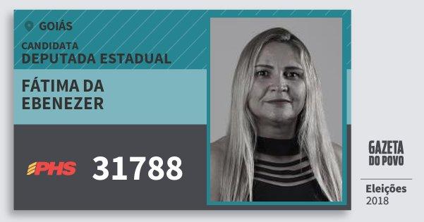Santinho Fátima da Ebenezer 31788 (PHS) Deputada Estadual | Goiás | Eleições 2018