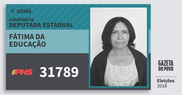 Santinho Fátima da Educação 31789 (PHS) Deputada Estadual | Goiás | Eleições 2018