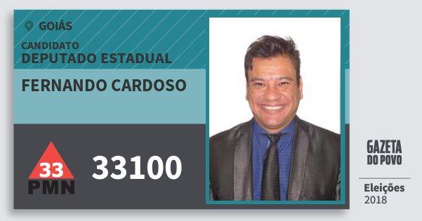 Santinho Fernando Cardoso 33100 (PMN) Deputado Estadual | Goiás | Eleições 2018