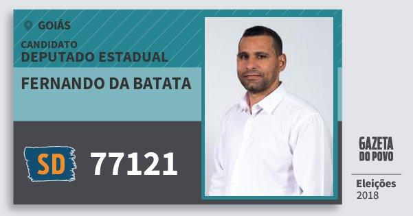 Santinho Fernando da Batata 77121 (SOLIDARIEDADE) Deputado Estadual | Goiás | Eleições 2018