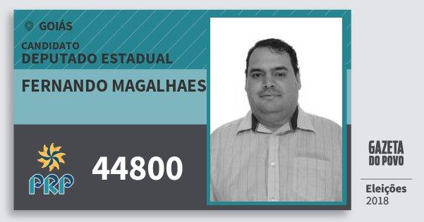 Santinho Fernando Magalhaes 44800 (PRP) Deputado Estadual | Goiás | Eleições 2018