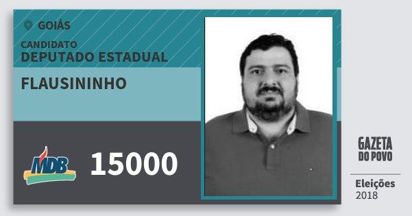 Santinho Flausininho 15000 (MDB) Deputado Estadual | Goiás | Eleições 2018