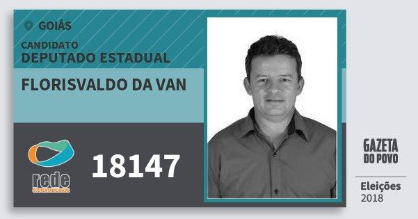 Santinho Florisvaldo da van 18147 (REDE) Deputado Estadual | Goiás | Eleições 2018