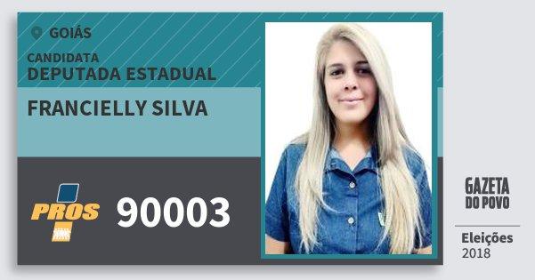 Santinho Francielly Silva 90003 (PROS) Deputada Estadual   Goiás   Eleições 2018
