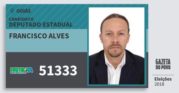 Santinho Francisco Alves 51333 (PATRI) Deputado Estadual | Goiás | Eleições 2018