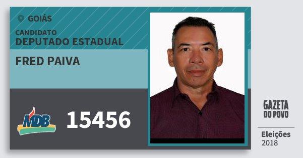 Santinho Fred Paiva 15456 (MDB) Deputado Estadual | Goiás | Eleições 2018