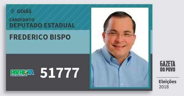 Santinho Frederico Bispo 51777 (PATRI) Deputado Estadual | Goiás | Eleições 2018
