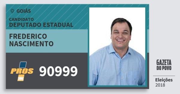Santinho Frederico Nascimento 90999 (PROS) Deputado Estadual | Goiás | Eleições 2018
