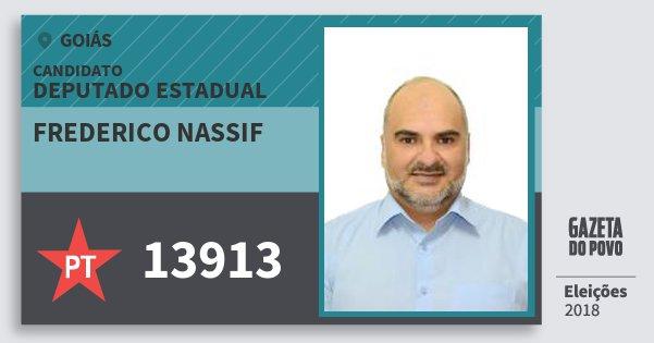 Santinho Frederico Nassif 13913 (PT) Deputado Estadual | Goiás | Eleições 2018