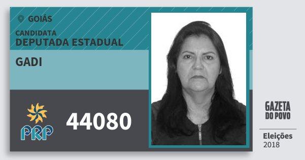Santinho Gadi 44080 (PRP) Deputada Estadual | Goiás | Eleições 2018