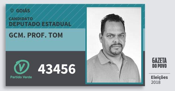 Santinho Gcm. Prof. Tom 43456 (PV) Deputado Estadual | Goiás | Eleições 2018