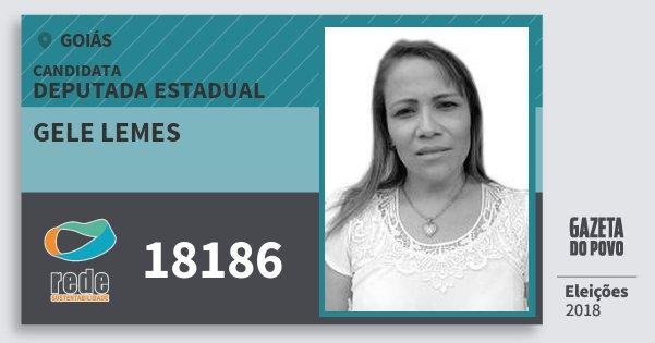 Santinho Gele Lemes 18186 (REDE) Deputada Estadual | Goiás | Eleições 2018