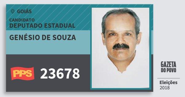 Santinho Genésio de Souza 23678 (PPS) Deputado Estadual | Goiás | Eleições 2018