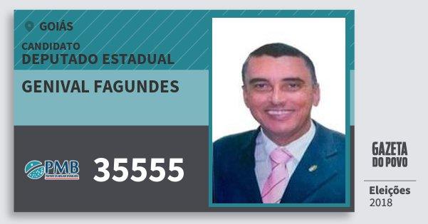 Santinho Genival Fagundes 35555 (PMB) Deputado Estadual | Goiás | Eleições 2018