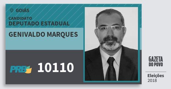 Santinho Genivaldo Marques 10110 (PRB) Deputado Estadual | Goiás | Eleições 2018