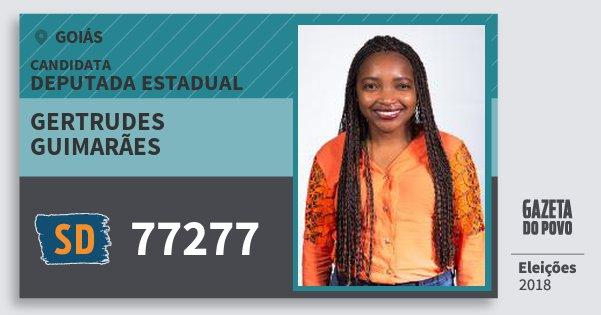 Santinho Gertrudes Guimarães 77277 (SOLIDARIEDADE) Deputada Estadual | Goiás | Eleições 2018