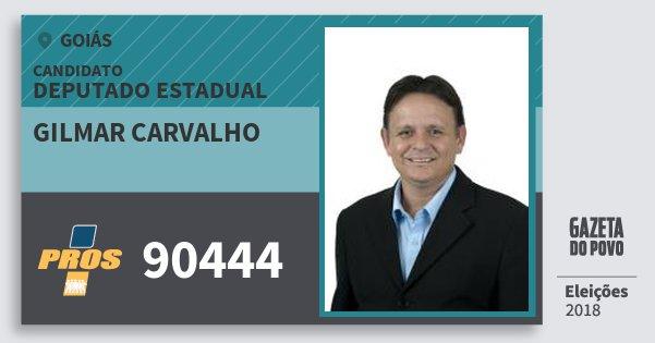 Santinho Gilmar Carvalho 90444 (PROS) Deputado Estadual | Goiás | Eleições 2018
