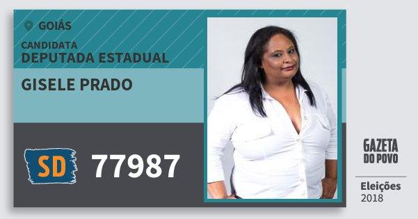 Santinho Gisele Prado 77987 (SOLIDARIEDADE) Deputada Estadual | Goiás | Eleições 2018