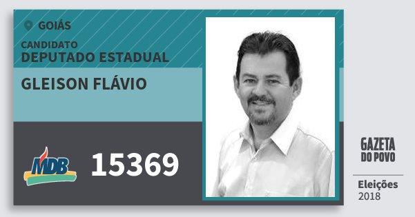 Santinho Gleison Flávio 15369 (MDB) Deputado Estadual | Goiás | Eleições 2018