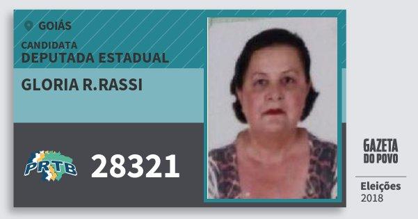 Santinho Gloria R.rassi 28321 (PRTB) Deputada Estadual | Goiás | Eleições 2018