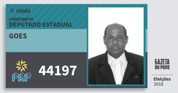 Santinho Goes 44197 (PRP) Deputado Estadual | Goiás | Eleições 2018