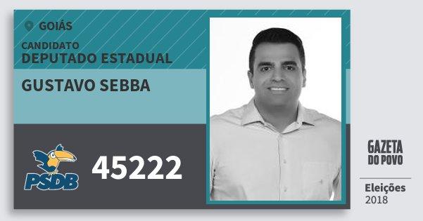Santinho Gustavo Sebba 45222 (PSDB) Deputado Estadual | Goiás | Eleições 2018