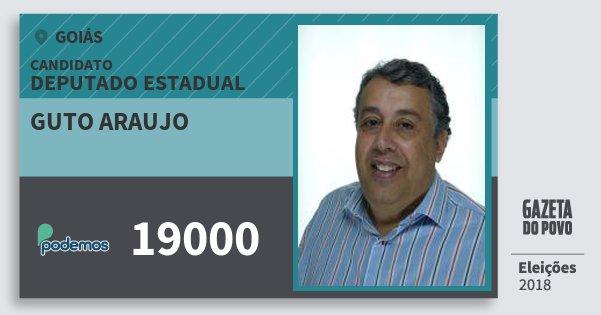 Santinho Guto Araujo 19000 (PODE) Deputado Estadual | Goiás | Eleições 2018
