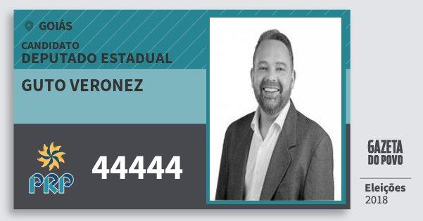 Santinho Guto Veronez 44444 (PRP) Deputado Estadual | Goiás | Eleições 2018