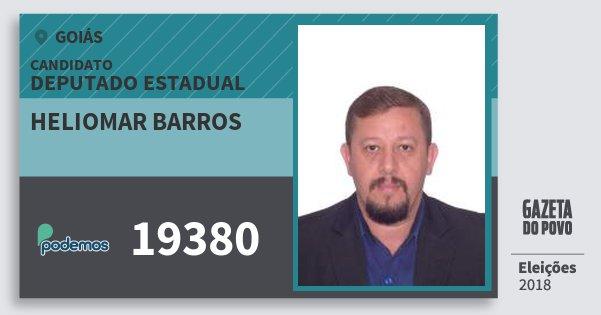 Santinho Heliomar Barros 19380 (PODE) Deputado Estadual | Goiás | Eleições 2018