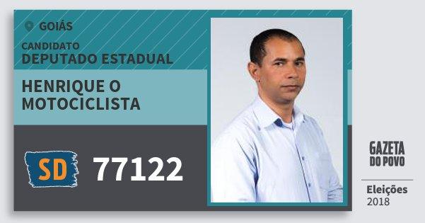 Santinho Henrique O Motociclista 77122 (SOLIDARIEDADE) Deputado Estadual | Goiás | Eleições 2018