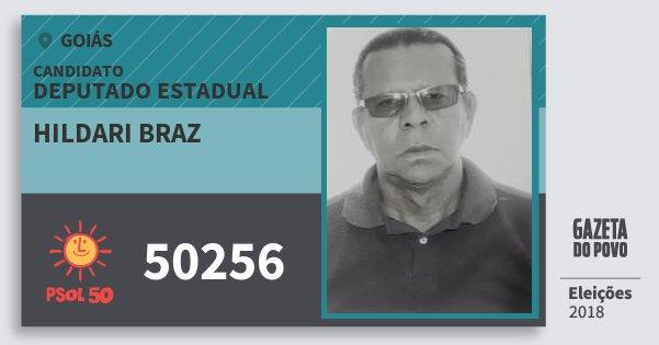Santinho Hildari Braz 50256 (PSOL) Deputado Estadual | Goiás | Eleições 2018